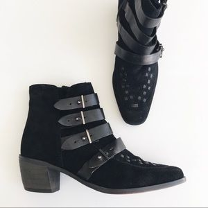 Free People Ranger Buckle Ankle Boots